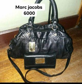 Original Preloved Marc Jacobs mj classic groovy leather bag and wallet