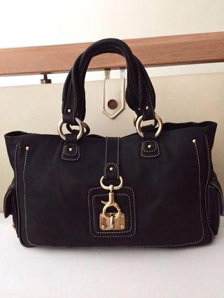 AUTHENTIC MARC JACOBS BLACK SELMA LEATHER TOTE