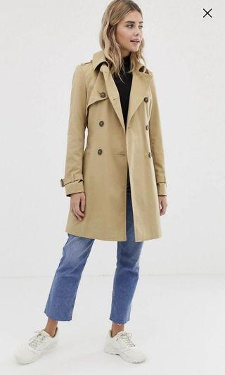 Asos Trench coat in Stone