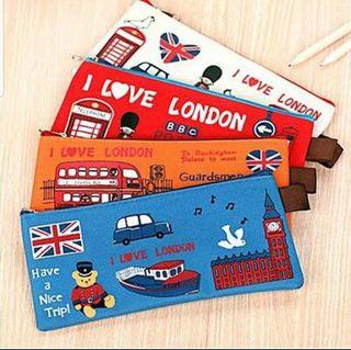London Cute Pen/ Pencil Case - Gift for Kids, Students, Friends, Colleagues, Events, Children's Party! Birthday Goodie Bag/ Loot Bag/ Childrens Day/ Teachers Day/ Friendship Day/ Christmas/ School/ Study/ Art/ Stationery/ Travel/ Cartoon