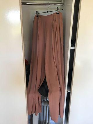 Long Straight Leg Pants in Camel