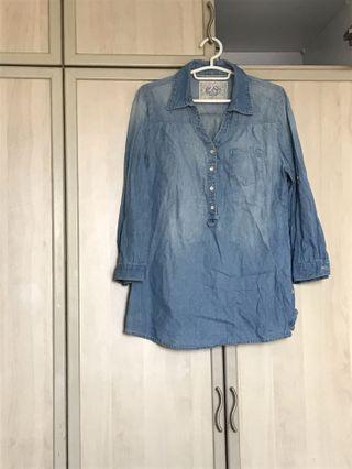 Denim shirt blouse top