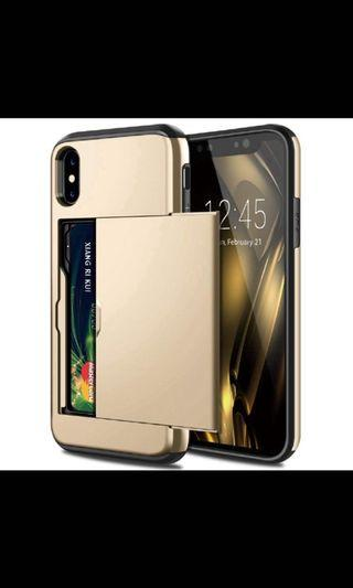 IPhone XR gold casing  with card slots