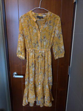 『全新』H:CONNECT黃洋裝
