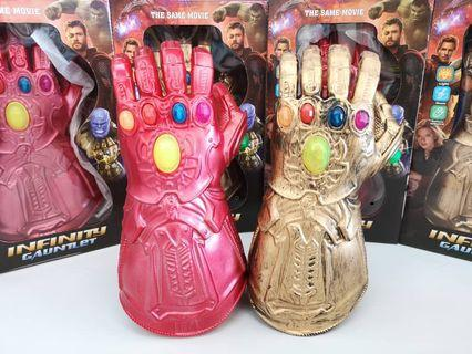 THANOS/IRONMAN INFINITY GAUNTLET WITH LED LIGHT MARVEL LEGENDS THANOS GAUNTLET GLOVES AVENGERS