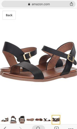 Rock & Candy Cartar Flat Sandals Black Strappy