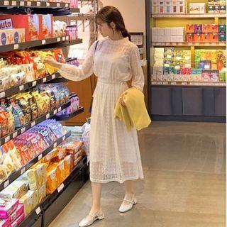 全新轉賣 原價1700 CHERRYKOKO CRKO 正韓 甜美氣質蕾絲花朵兩件式綁帶洋裝