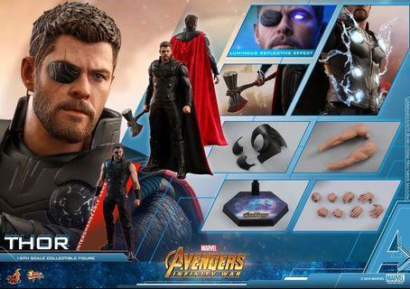 (首日rerun) HotToys Marvel 1:6 Thor Infinity war 雷神 戰斧
