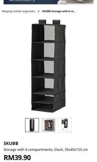 Ikea Skubb Storage Compartment