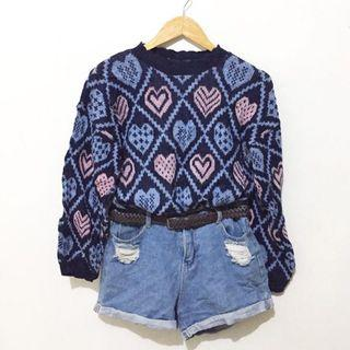 Hearts print sweater