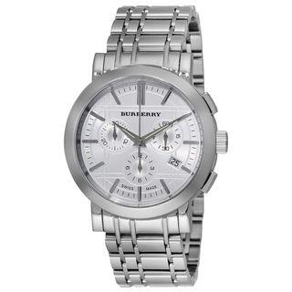 Burberry Men's BU1372 Heritage Silver Chronograph Dial Bracelet Watch: