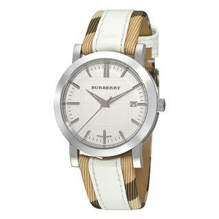 Burberry Women's 'Nova Check' Swiss Quartz Stainless Steel and Leather Casual Watch