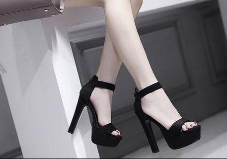 High heels strap heels