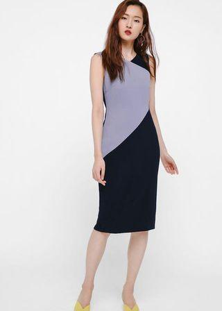 Love Bonito Dorota Colourblock Midi Dress (Navy)