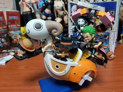 One Piece World Collectable FiguresWCF Mini Merry ATTACK + MEGA WCF Vol.5 Going Merry