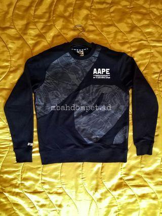 Aape Crewneck black original sweater not uniqlo hnm