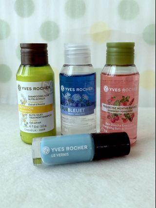 Yves Rocher Shampoo, Shower Gel, Eye Makeup Remover, Nail Polish