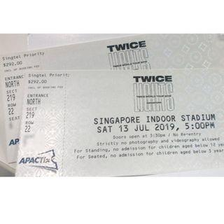 CAT 1 SEATED Twice twicelights singapore concert ticket
