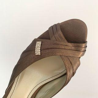 Bronze Satin Heels