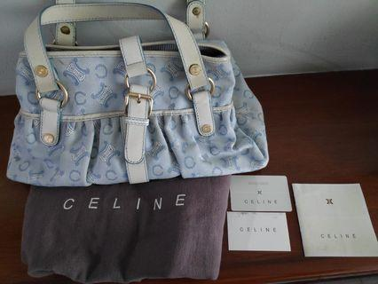 TURUN HARGA! Preloved Celine Canvas Shoulder Bag ASLI