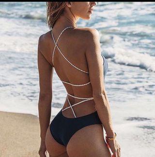 Summer Bikini 👙Solid High waist swimsuit