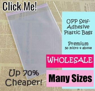 [PREMIUM QUALITY WHOLESALE PRICE] 100pcs Large-Clear Self Adhesive OPP Transparent Poly Plastic Bags / Gift / Packaging