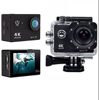 4K ultra HD Action Camera with kobratech tripod