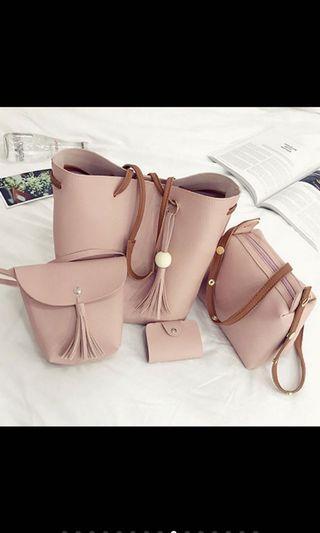 🚚 Tassel Bucket Bag SET