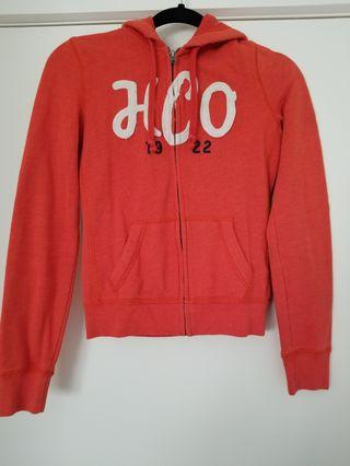 Hollister orange jacket size S
