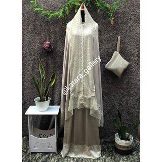 Mukena Premium Zara seri Fatimah Include Tas Cantik dan Kotak Premium