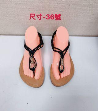 🚚 專櫃女性黑色夾腳涼鞋