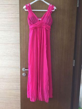 Pink Full Length Dress