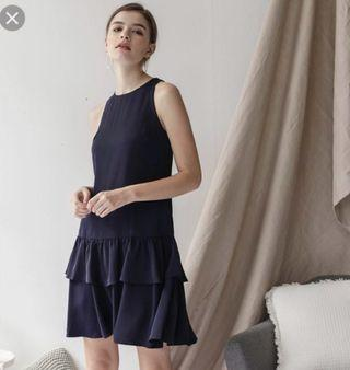 🚚 TTR Elly Tiered Dress in Navy