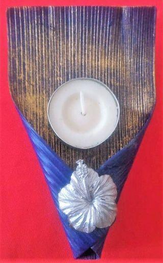 DOOR GIFT The Palm Frond candle holder