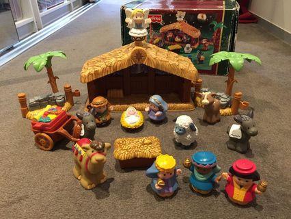 Fisher price little people christmas story nativity set rare Sydney