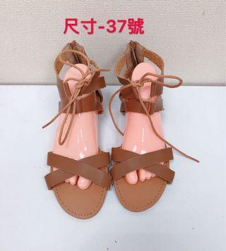 🚚 專櫃女性棕色羅馬涼鞋