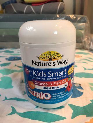 Kids Smart,Omega-3魚油,三種口味180粒咀嚼錠