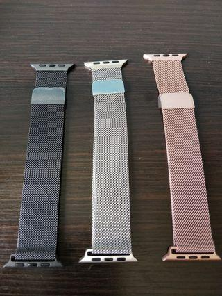 🚚 *Clearance* Milanese apple watch strap with strong magnet (rose pink/space grey/silver) for apple watch series 4/3/2/1