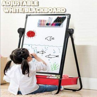 2 in 1 White / Black Board With Storage