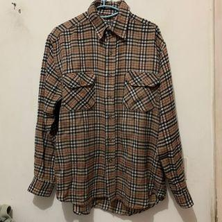 Burberry print flannel shirt