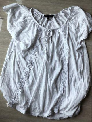 UK brand New Look Size 8 White Summer Top