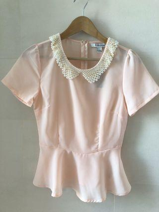 Forever 21 pearl top 雪紡上衣