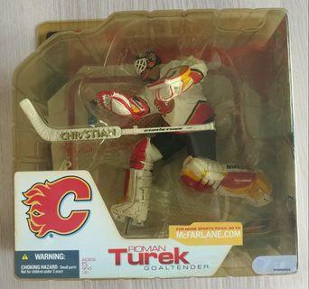 McFarlane Sportpicks NHL Ice Hockey Calgary Flames Roman Turek Goaltender 冰上曲棍球
