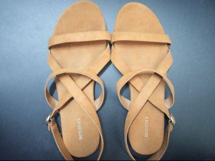 Divided Brown Sandals