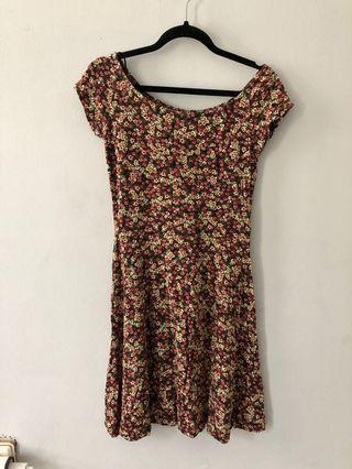 Stradivarius floral dress