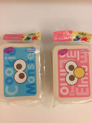 日本限定-芝麻街Cookie Monster / Elmo 食物盒