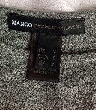 🚚 MANGO 灰棉短洋裝