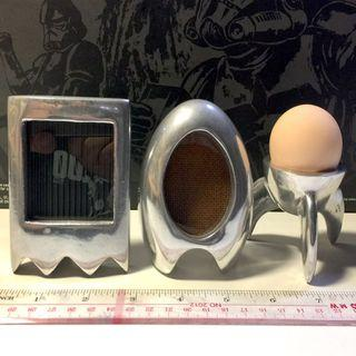 金屬製 相架 相框 盛旦器 一個相架的玻璃有損 早餐雞蛋 3件不散放