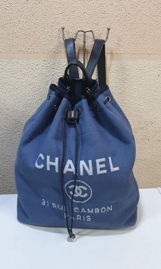 Chanel Deauville Canvass Backpack