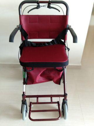Pushcart with seat and arm rest